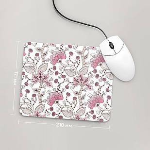 Коврик для мыши 234x194  Цветы №8  (растения, цветы, флора, узоры)