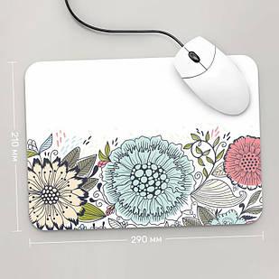 Коврик для мыши 290x210  Цветы №7  (растения, цветы, флора, узоры)