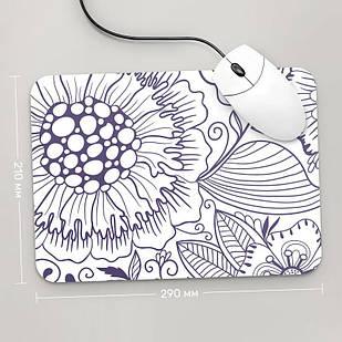 Коврик для мыши 290x210  Цветы №6  (растения, цветы, флора, узоры)
