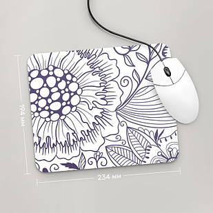 Коврик для мыши 234x194  Цветы №6  (растения, цветы, флора, узоры)