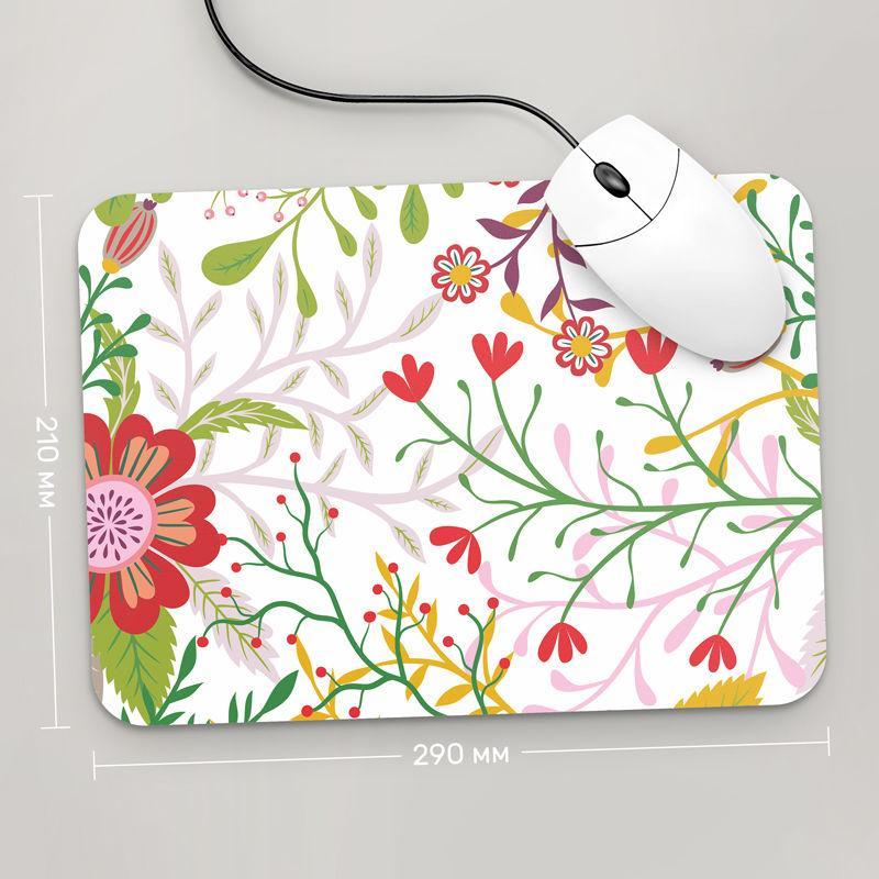 Коврик для мыши 290x210  Цветы №5  (растения, цветы, флора, узоры)