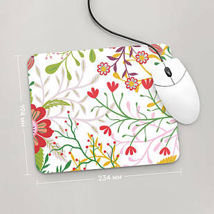Коврик для мыши 234x194  Цветы №5  (растения, цветы, флора, узоры)