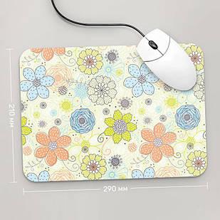 Коврик для мыши 290x210  Цветы №4  (растения, цветы, флора, узоры)
