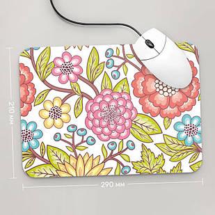 Коврик для мыши 290x210  Цветы №1  (растения, цветы, флора, узоры)