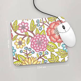 Коврик для мыши 234x194  Цветы №1  (растения, цветы, флора, узоры)