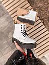 Женские ботинки Dr. Martens White Plarform, фото 7