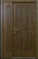 """Входная бронированная полуторная дверь """"Портала"""" (Комфорт) ― модель Геометрика, фото 1"""