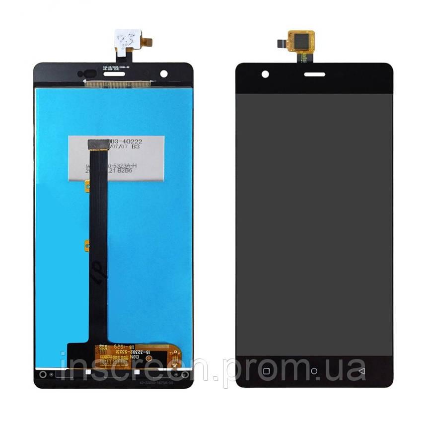 Экран (дисплей) Nomi i506 Shine с тачскрином (сенсором) черный, фото 2