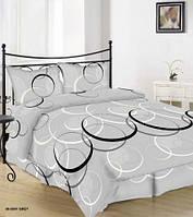 Постельное белье Бязь ФЬЮЖН (на сером) Комплект полутороспальный, евро, двуспальный