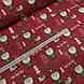 Ткань польская хлопковая, Санта Клаус с подарками в зеленых тонах на красном, фото 3