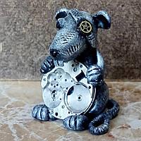 Брелок на ключи Механическая мышь - символ 2020 года Подарок на новый год в стиле стимпанк Ручная работа
