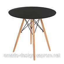 Стол обеденный ТM-35 бук D80*73(H) Vetro Черный