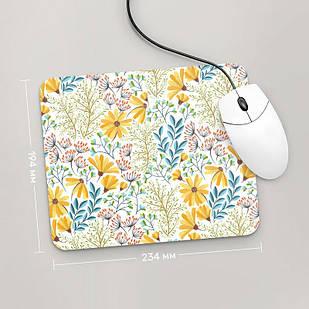 Коврик для мыши 234x194 Цветы №68 (растения, цветы, флора, узоры)