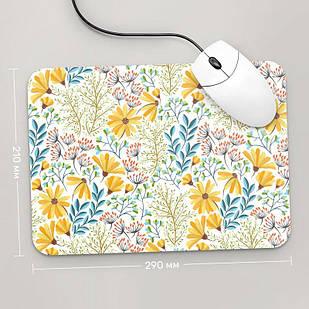 Коврик для мыши 290x210 Цветы №68 (растения, цветы, флора, узоры)