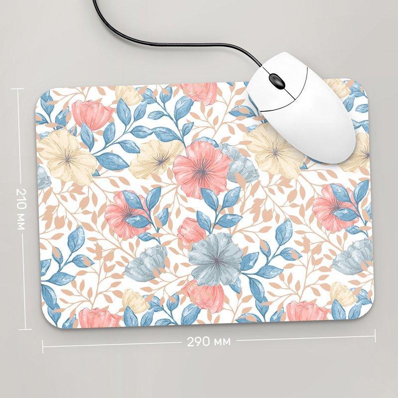 Коврик для мыши 290x210 Цветы №67 (растения, цветы, флора, узоры)