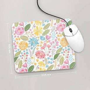 Коврик для мыши 234x194 Цветы №65 (растения, цветы, флора, узоры)
