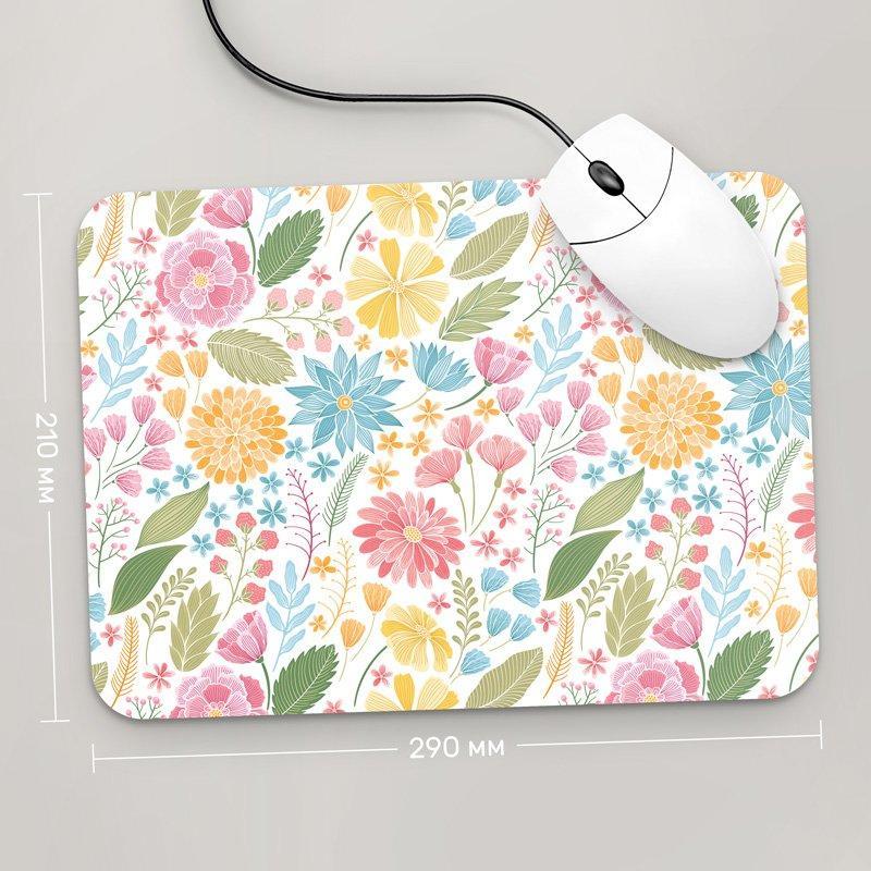 Коврик для мыши 290x210 Цветы №65 (растения, цветы, флора, узоры)