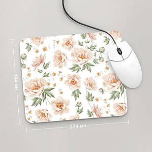 Коврик для мыши 234x194 Цветы №64 (растения, цветы, флора, узоры)