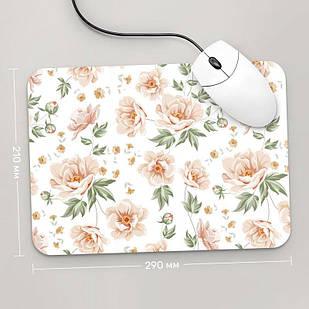 Коврик для мыши 290x210 Цветы №64 (растения, цветы, флора, узоры)