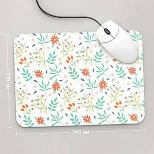 Коврик для мыши 290x210 Цветы №63 (растения, цветы, флора, узоры)
