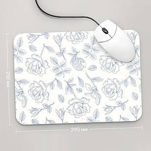 Коврик для мыши 290x210 Цветы №62 (растения, цветы, флора, узоры)