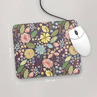 Коврик для мыши 234x194 Цветы №60 (растения, цветы, флора, узоры)