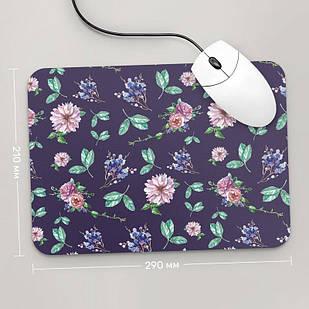 Коврик для мыши 290x210 Цветы №57 (растения, цветы, флора, узоры)