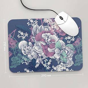 Коврик для мыши 290x210 Цветы №56 (растения, цветы, флора, узоры)