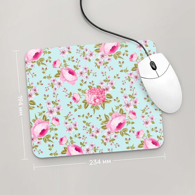 Коврик для мыши 234x194 Цветы №55 (растения, цветы, флора, узоры)