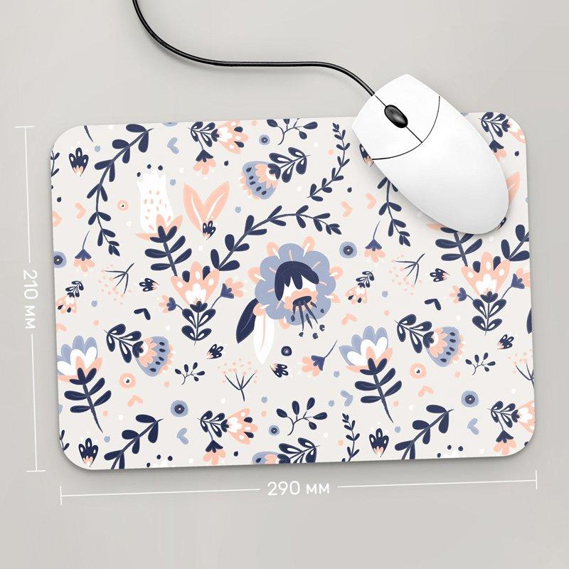 Коврик для мыши 290x210 Цветы №50 (растения, цветы, флора, узоры)