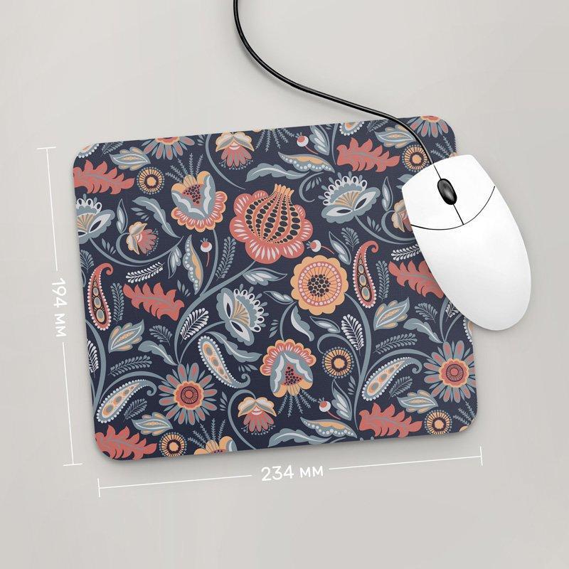 Коврик для мыши 234x194 Цветы №43 (растения, цветы, флора, узоры)