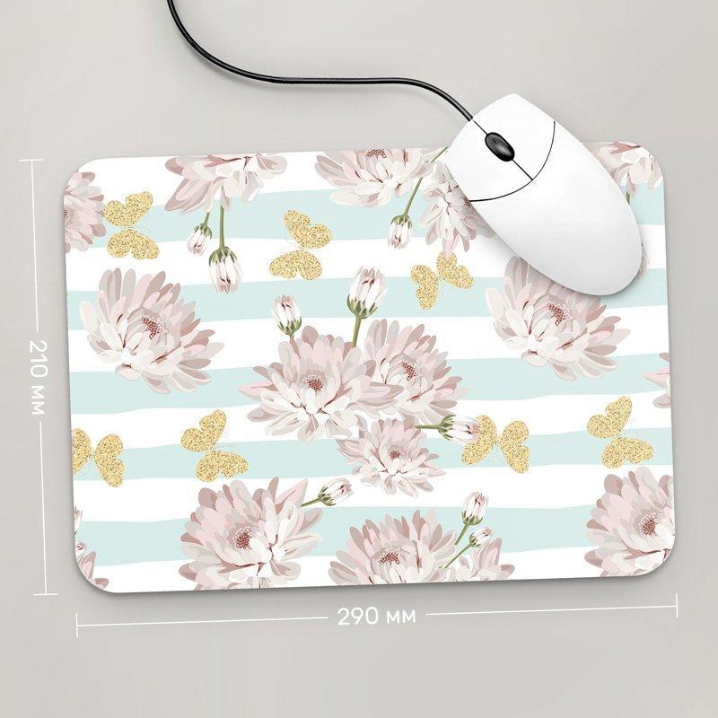 Коврик для мыши 290x210 Цветы №42 (растения, цветы, флора, узоры)