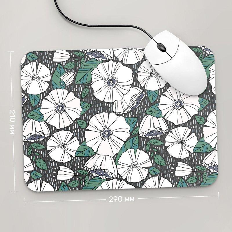 Коврик для мыши 290x210 Цветы №39 (растения, цветы, флора, узоры)