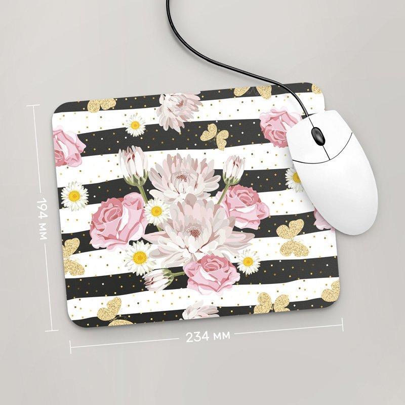 Коврик для мыши 234x194 Цветы №38 (растения, цветы, флора, узоры)