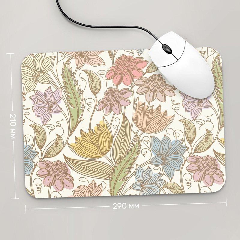Коврик для мыши 290x210 Цветы №37 (растения, цветы, флора, узоры)