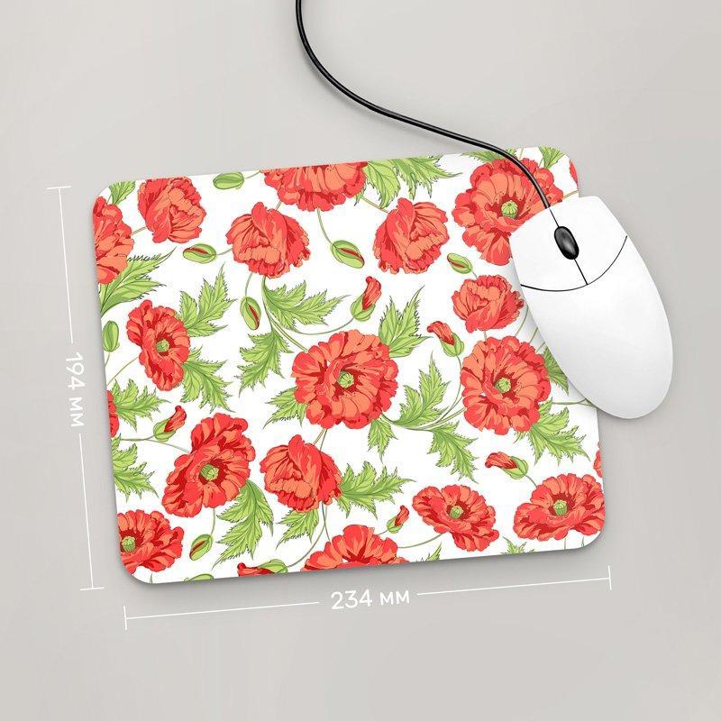 Коврик для мыши 234x194 Цветы №33 (растения, цветы, флора, узоры)