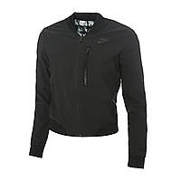 Куртка женская демисезонная бомбер черная двухсторонняя Nike Woven Bomber TP (Размер 42-46 (S))