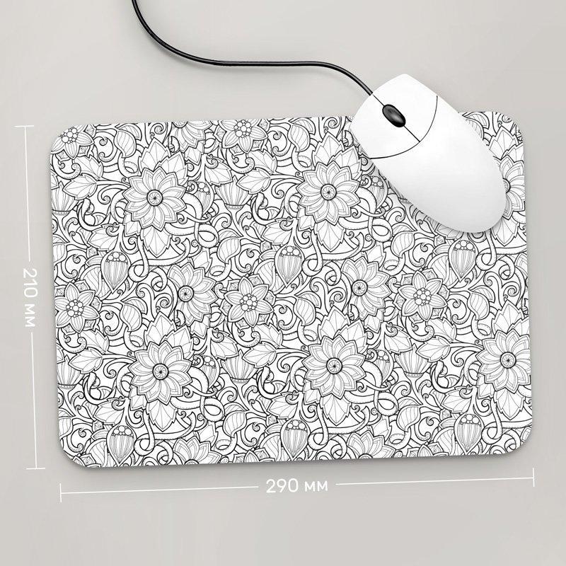 Коврик для мыши 290x210 Цветы №28 (растения, цветы, флора, узоры)