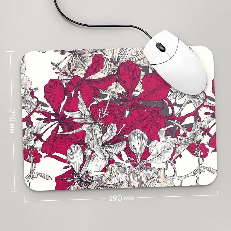 Коврик для мыши 290x210 Цветы №24 (растения, цветы, флора, узоры)