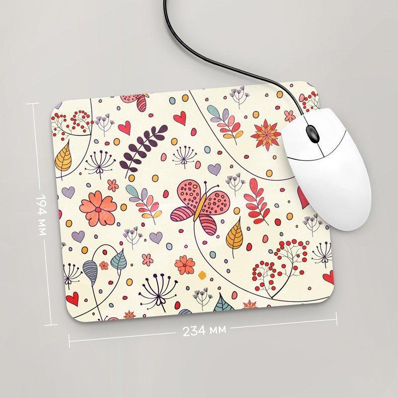 Коврик для мыши 234x194 Цветы №21 (растения, цветы, флора, узоры)