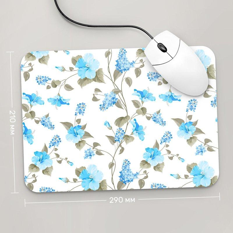 Коврик для мыши 290x210 Цветы №16 (растения, цветы, флора, узоры)