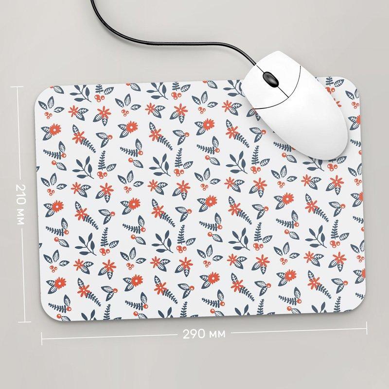 Коврик для мыши 290x210 Цветы №12 (растения, цветы, флора, узоры)