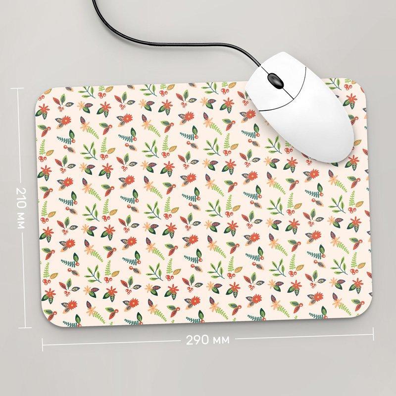 Килимок для миші 290x210 Квіти №11 (рослини, квіти, флора, візерунки)