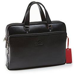 Мужской портфель из натуральной кожи Eminsa 7115-37-1 черный