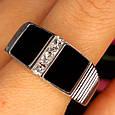 Мужское серебряное кольцо с ониксом - Мужская печатка серебро, фото 8