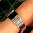 Мужское серебряное кольцо с ониксом - Мужская печатка серебро, фото 6