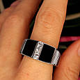 Мужское серебряное кольцо с ониксом - Мужская печатка серебро, фото 4