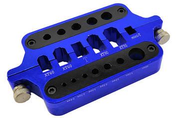 Зажим для пайки коннекторів RCTurn (синій) (SV)