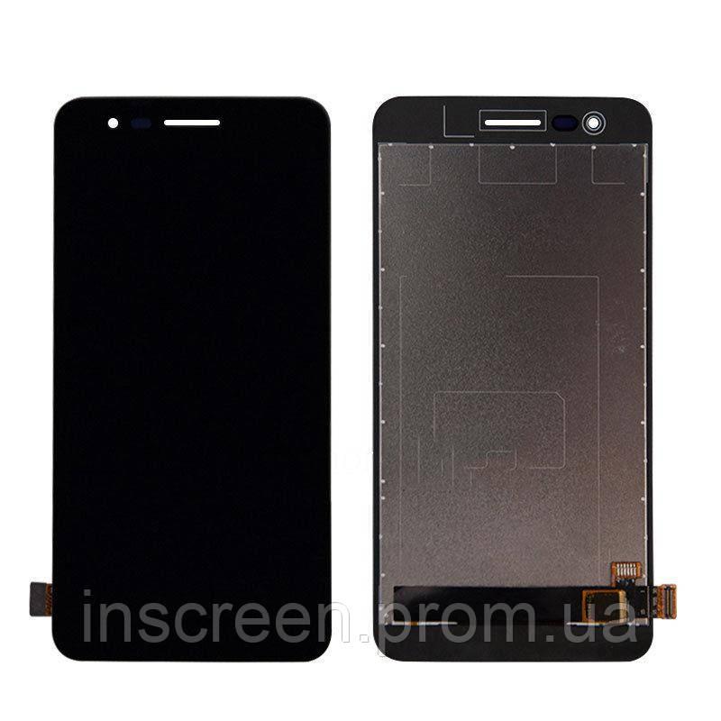 Экран (дисплей) LG X230 K7 (2017) с тачскрином (сенсором) черный Оригинал Китай