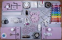Бизиборд BusyBliss Серо-фиолетовый 40*60 см